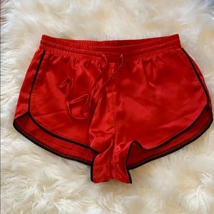 Forever 21 silky red shorts
